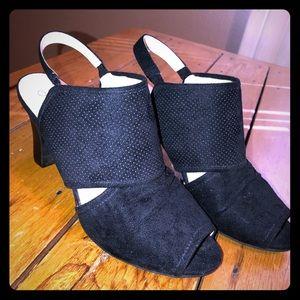 LifeStride Cassia 9.5W NWOT black peep toe heels